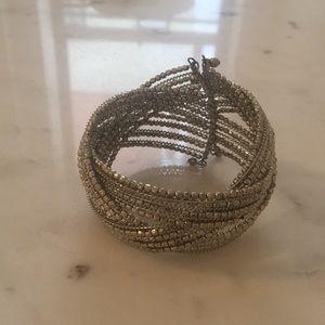 Anthropologie silver braided bracelet
